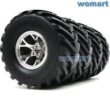 4pc 2.2 Badland Tires W/ 2.2 Wheels For RC4WD Axial Tamiya Traxxas Crawler Truck