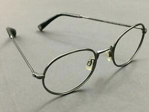 Warby Parker ABBOTT Jet Silver Metal Eyeglass Frame