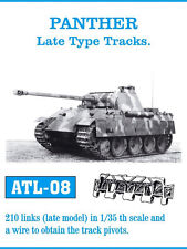 1/35 ATL08 FreeShip FRIULMODEL METAL WORKABLE TRACKS FOR  GERMAN PANTHER A & G