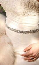 Bridal wedding dress crystal embellishment belt sash