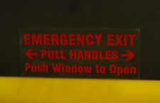 """3.25"""" x 1.5"""" Emergency Exit Window Label Red on Clear"""