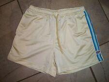 1001  Nike Yellow with Blue Trim Elastic Waist Athletic Running Shorts M 10 12
