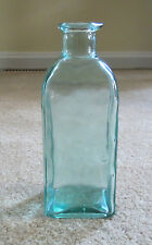 Vintage Green Pear Bottle with Pouring Spout
