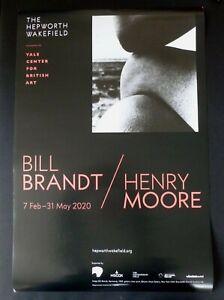 BILL BRANDT HENRY MOORE Hepworth Wakefield   2020 ART EXHIBITION POSTER