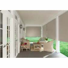 Coolaroo Outdoor Shades Blinds. 96 in. W x 72 L Exterior Roller Shade Sesame...