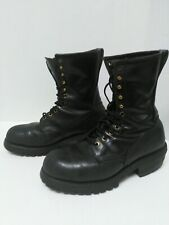 RED WING 2218 Work/Logging Steel Toed Black Leather Boots Men's Size 8D