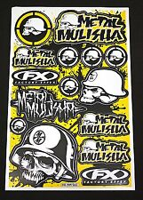 Arc Autocollant sticker - 15 x Metal Mulisha Jaune Noir - 265 x 170 mm #m02