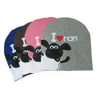 I Love Papa Mama Baby Hat Warm Cotton Beanie Cap Kids Girl Boy Gift N3
