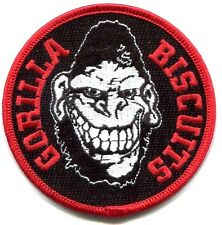 GORILLA BISCUITS face logo EMBROIDERED IRON-ON PATCH *Free Shipping start today