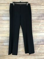 Signature By Larry Levine Womens Dress Pants Stretch Straight Leg Lined Size 6
