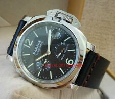 PARNIS Power Reserve Seagull movement Automatic men's watch polishing case