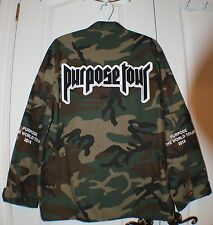 Purpose Tour Military Camo Jacket Justin Bieber Medium- Extremely RARE!