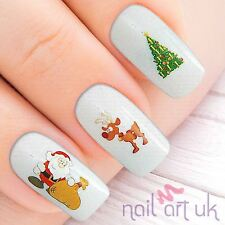 Navidad Navidad Santa Nail Stickers transferencias Tatuajes Arte 01.03.027