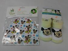 BABY Disney Mickey Mouse Lot Of 2 Hat & Booties  NIP NEW Great Gift