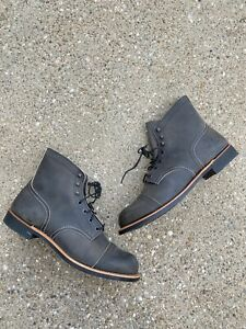 """Red Wing Heritage 6"""" Iron Ranger Work Boots Men's 12 D Charcoal 8086"""