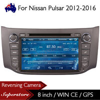 "8"" Stereo Car Radio DVD Player head unit stereo GPS For Nissan Pulsar 2012-2016"
