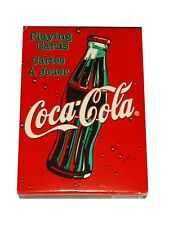 Rare Bicycle Coca-Cola Coke Sparkle Bubble Playing Cards, red and white,