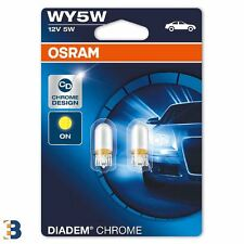 OSRAM Diadem Chrome WY5W (501a) 12V 5W Amber direction Bulbs 2827DC-02B
