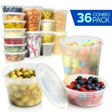 12 x 8, 16, and 32 oz Deli Containers with Lids - Food Storage Containers