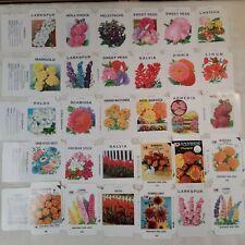 Vintage Unused Garden Flower Seed Envelopes Packets Crafts Farm Florist