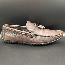 "Allen Edmonds Brown Alligator ""Guidare"" Driving Loafers Men's Size 10"