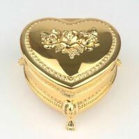 GOLD TIN ALLOY HEART MUSIC BOX :  RAINDROP KEEP FALLING ON MY HEAD