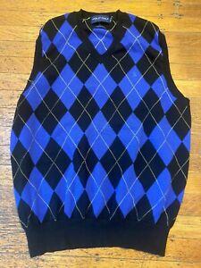 Polo Ralph Lauren Golf 100% Cotton Argyle Sweater Vest Men's Large