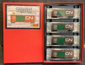 N Scale Micro-Trains CN 40' Box Car Runner Pack #59 Canadian National 993 00 059