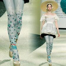 Lolita Cupcake Stars Stripes Blue/Silver Tights Regular Japan Kei Kawaii Cosplay
