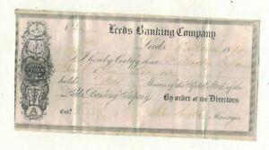 1834, LEEDS BANKING COMPANY . VELLUM SHARE CERTIFICATE