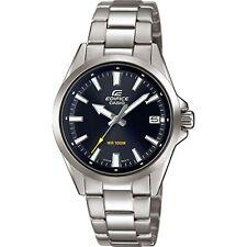 Casio Edifice Quartz Black Dial Silver Steel Bracelet Men's Watch EFV-110D-1AVUE