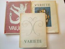 Variété: Revue Francaise des Lettres et des Arts. Nos. 1 - 3,  Braque Leger Miro