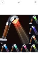 3 color Change led light up Anion Shower Head with High Pressure Filter