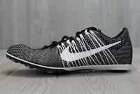 25 Nike Zoom VICTORY 2 Track Running Shoes BLACK White 555365 001 Mens 7 - 12