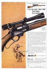 1964 Vintage ad Marlin Rifles Model 336 Deer Rifle Cowboy Graphics Man Cave Art