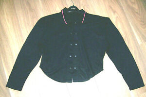 50 x Black Jersey Tops Mixture of 3 styles Sizes 10, 12, 14 Vintage 1980's