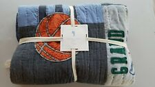 POTTERY BARN SULLIVAN SPORTS QUILT BASKETBALL Twin #4229