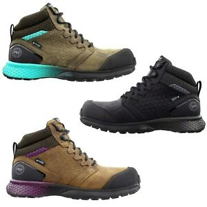 Timberland PRO Women Reaxion Mid Composite Safety Toe Waterproof Leather Boots
