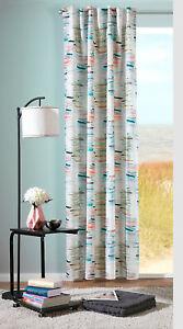 Aquarell Fertigvorhang Schlaufenbandschal Andrea halbtransparent / 2 Farben