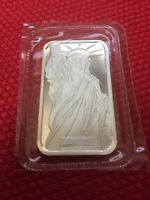 1 One Troy Oz Ounce MTB JM Statue Of Liberty .999 Fine Silver Bar 1982 Sealed