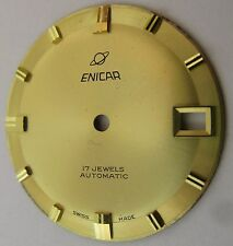 Enicar Watch Movement parts: Gold plated dial 17 jewels Automatic 28.8 mm