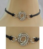 Dragon Choker Necklace Handmade Adjustable accessories Fashion Silver NEW Black