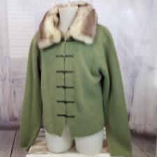 Kenji angora wool button cardigan jacket coat sweater rabbit fur vintage vtg