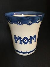 """M.A.Hadley Special Order Flower Vase Rare """"Mom"""" 4 3/4"""" Tall"""