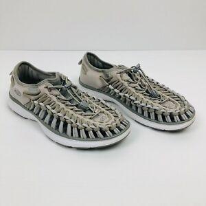 KEEN Uneek 02 Vapor White Woven Lightweight Summer Sandals Size 39 EU 8.5 US