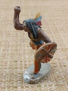 Chialu Indian with Shield NO SPEAR Toy Soldier Composition Made in Italy 1950's