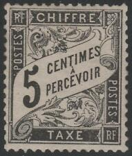 "FRANCE STAMP TIMBRE TAXE N° 14 "" TYPE DUVAL 5c NOIR "" NEUF x TTB  K347"