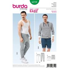Burda Young Super Easy SEWING PATTERN 6719 Mens Trousers & Shorts 36-46
