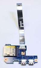 BROKEN ACER ASPIRE 7551 7551G USB & SD Card Reader Board 48.4HP02.011 w/ Cable