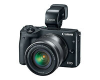 Fotocamera Digitale Mirrorless Canon EOS M3 + EF-M 16-50mm + EVF-DC1